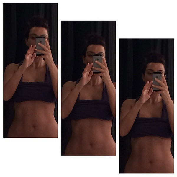 Kim Kardashian Workout Selfies