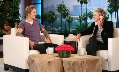 Justin Bieber Prank Calls Fan on Ellen: Listen to His Accent!