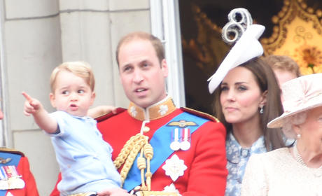 Kate Middleton, Prince William, Prince George Take in a Parade