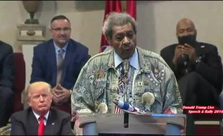 Don King Uses the N-Word at Donald Trump Rally