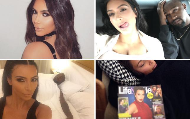 Kim kardashian strikes a pose