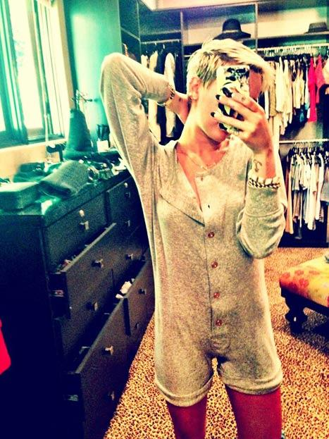 Miley Cyrus Onesie Photo