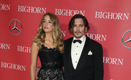 Amber Heard and Johnny Depp: 27th Annual Palm Springs International Film Festival Awards Gala