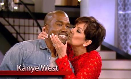 Kris Kisses Kanye