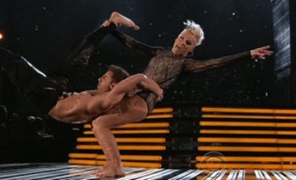 Pink Spins, Splits, Amazes at 2014 Grammys