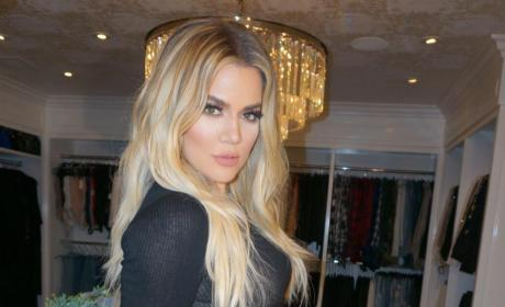 Khloe Kardashian Black Dress Counter