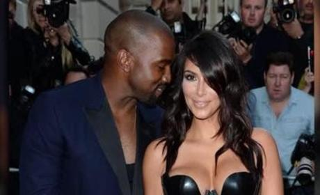 Kim Kardashian at the GQ Awards