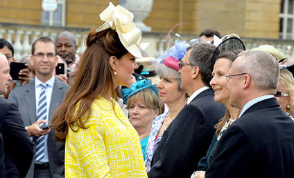 Kate Middleton, Baby Bump Look Lovely in Yellow at Queen Elizabeth's Garden Party