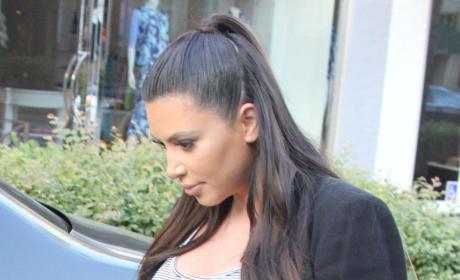 Very Pregnant Kim Kardashian