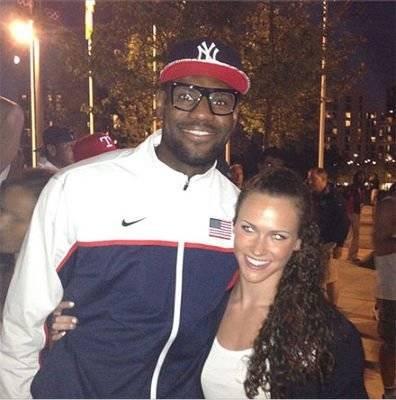 Lauren Perdue and LeBron James