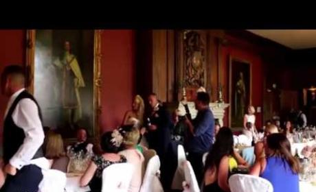 Groom's Prank Scares You-Know-What Out of Bride