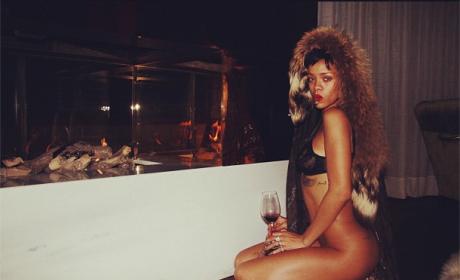 Rihanna Pantsless