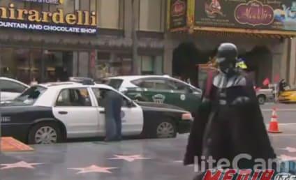 "Man Breaks Into Police Car, Yells ""I Love Jesus Christ"" as Darth Vader Looks On"