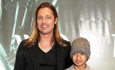 Brad Pitt and Son Maddox Picture