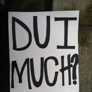 Justin Bieber DUI Sign