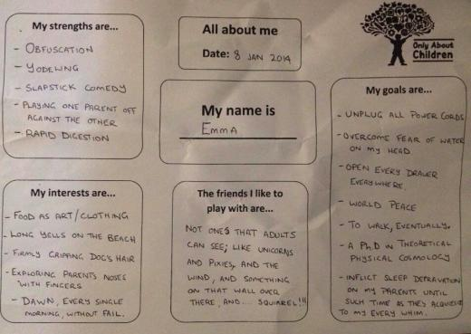 Dad's Daycare Questionnaire