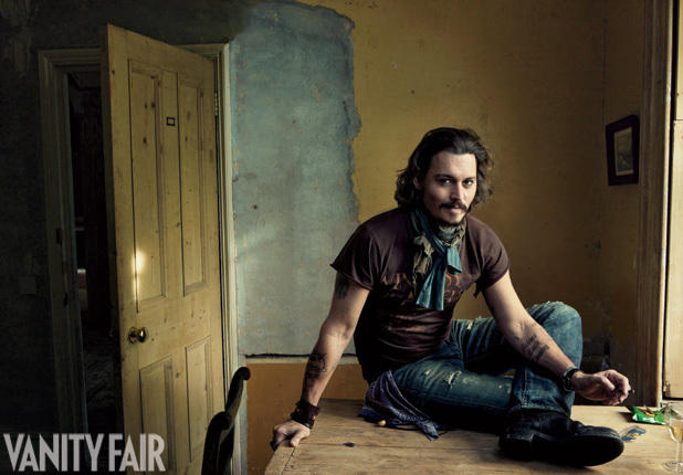 Johnny Depp in Vanity Fair
