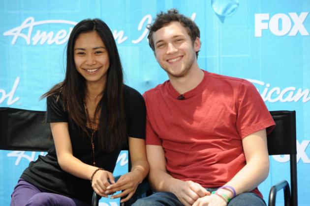 Jessica Sanchez and Phillip Phillips