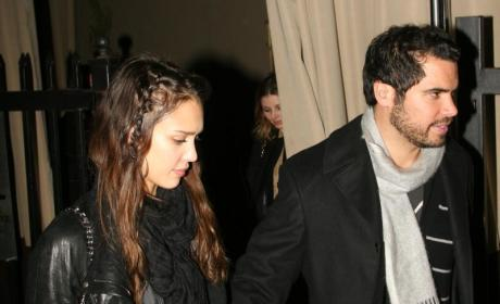 Cash Only: Warren Walks with Jessica Alba