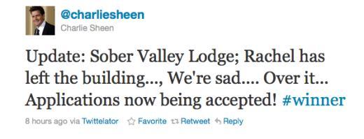 Sheen Tweet