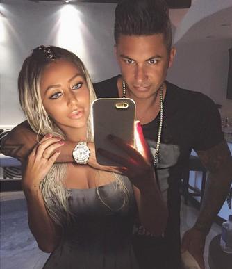 Pauly D & Aubrey O'Day Posing On Instagram