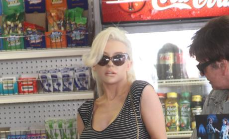 Courtney Stodden Pregnancy Test Photo