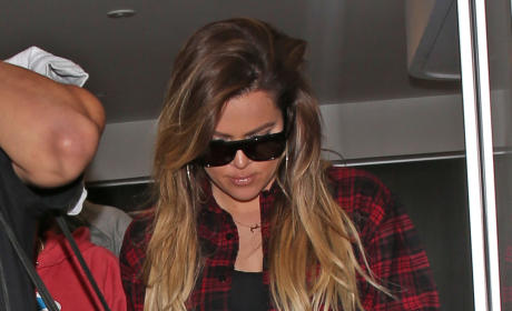 Khloe Kardashian with a Necklace