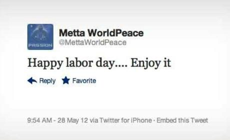 Metta World Peace Tweets Memorial Day Love