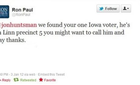 Ron Paul Takes Shot at Jon Huntsman on Twitter