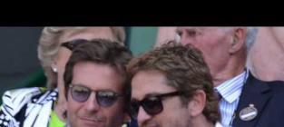 "Gerard Butler Stars in ""Man In Blue Jacket Watches a Tennis Match"""