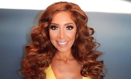 Farrah Abraham in yellow gown