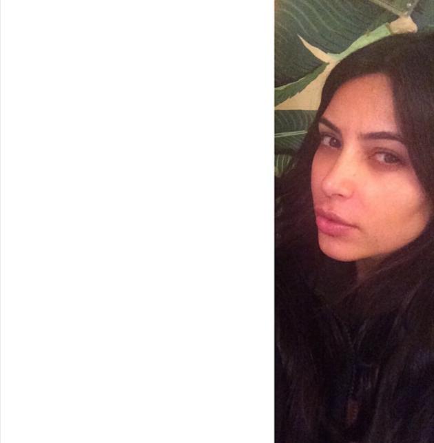 Kim Kardashian Without Makeup On