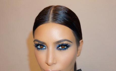 Kim Kardashian Feels Blue