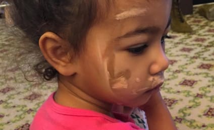 North West Contours Her Face, Just Like Mommy!