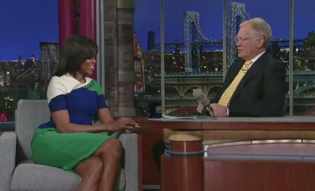 Michelle Obama to David Letterman: Who Are You, Oprah?