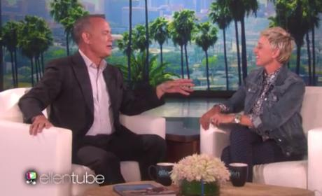Tom Hanks Challenges Ellen DeGeneres to a Pixar-Off