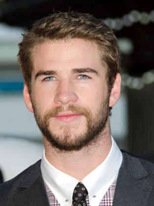 Liam Hemsworth with Scruff
