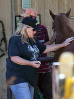 Debbie Rowe and Friend