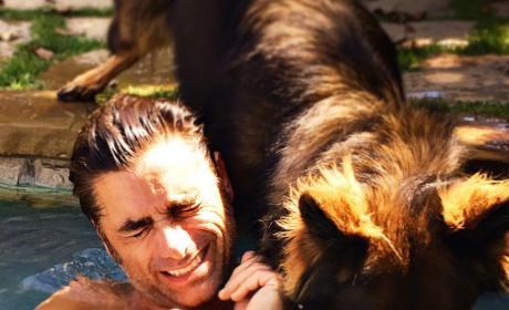 John Stamos and Canine