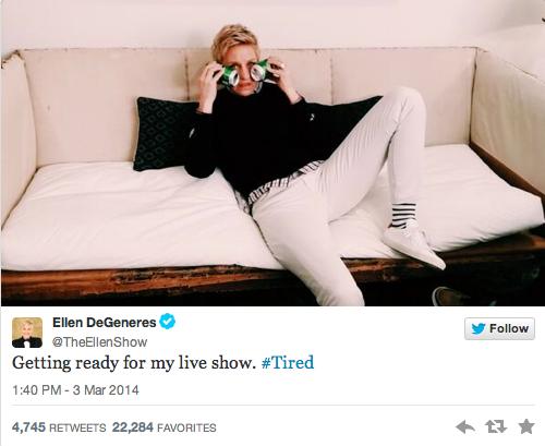 Ellen DeGeneres is Tired