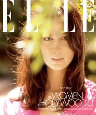 Emily Blunt Elle Cover