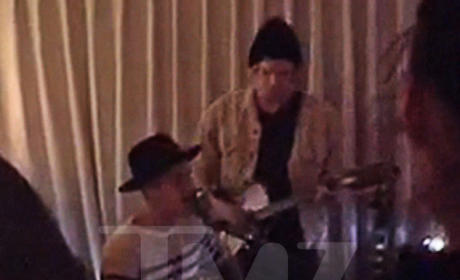 Justin Bieber and Cody Simpson Duet in West Hollywood