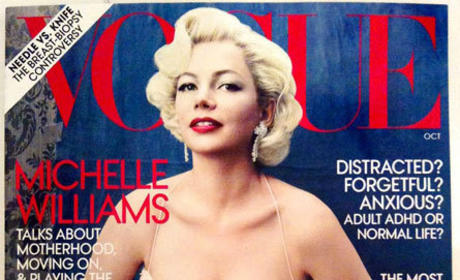 Michelle Williams Makes Like Marilyn Monroe