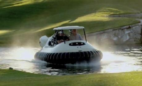 Bubba Watson Hovercraft: The Golf Cart of the Future!