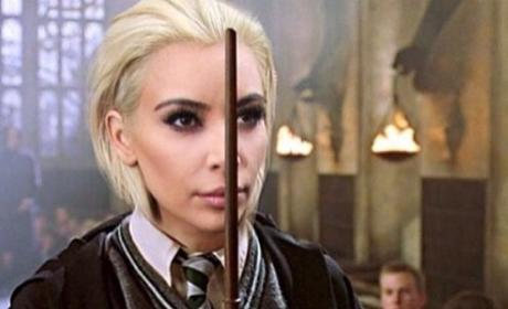 Kim Kardashian as Draco Malfoy