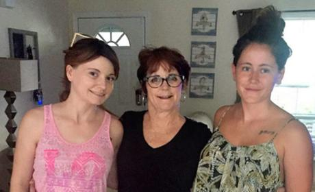 Jenelle, Ashleigh and Barbara Evans