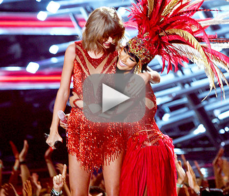Nicki minaj and taylor quick open 2015 mtv video strain awards