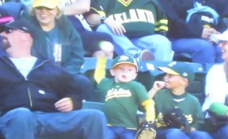 Kid Throws Back Foul Ball, Cries After Realizing Mistake