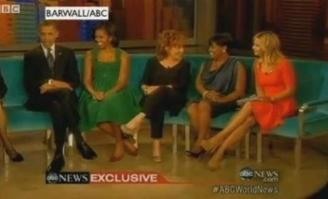 Obamas Visit The View, Talk Politics & Hannah Montana