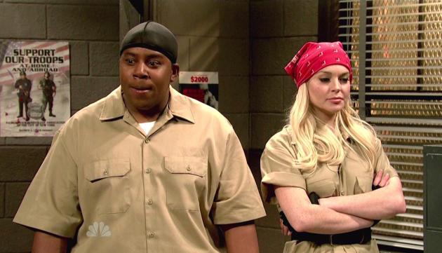 Lindsay Lohan and Kenan Thompson